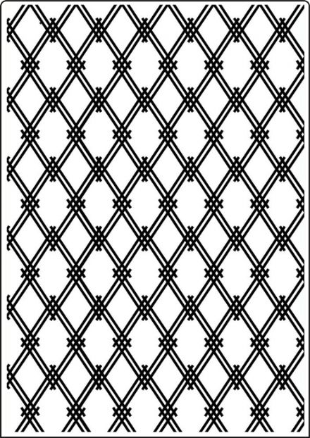 CTA417 ~ MODERN LATTICE ~ A4 embossing folder by Crafts Too